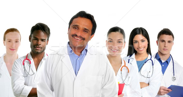 Indian latin expertise doctor multi ethnic doctors Stock photo © lunamarina