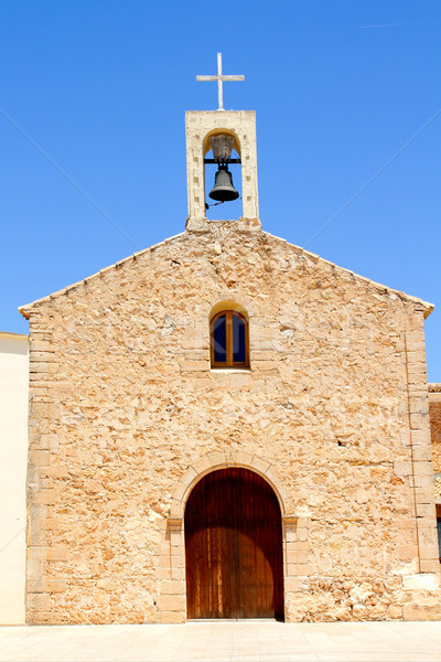 Sant Ferran church and belfry in Formentera Stock photo © lunamarina