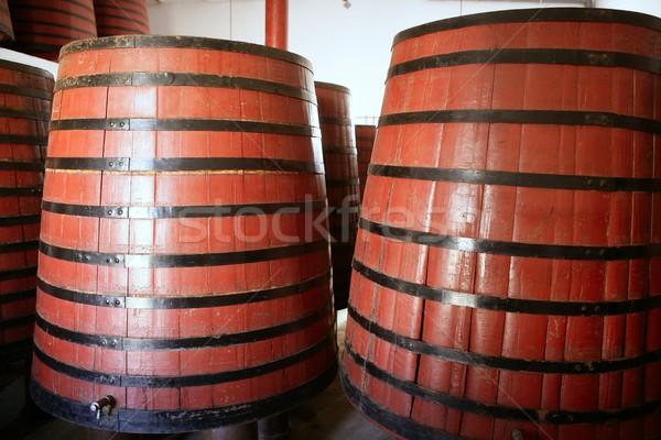 natural wood wine golden barrel cellar Stock photo © lunamarina