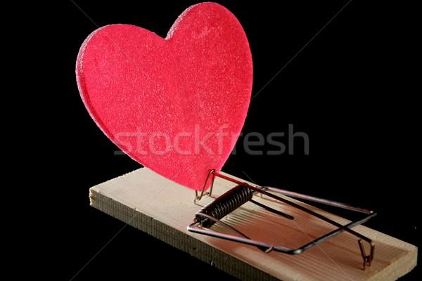 Liefde gezondheid muis val metafoor Rood Stockfoto © lunamarina