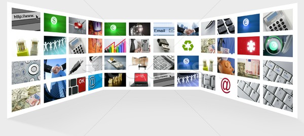 Big Panel of TV screen internet business Stock photo © lunamarina