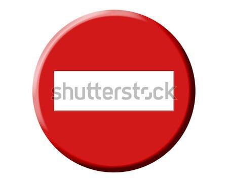 Errado direção não vermelho sinalizar Foto stock © lunamarina