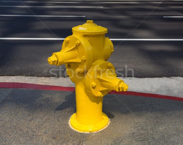 Fire hydrant yellow on downtown Los Angeles Stock photo © lunamarina