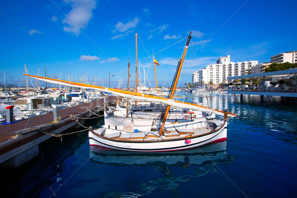 Marina tengerpart nyár óceán hajó sziget Stock fotó © lunamarina