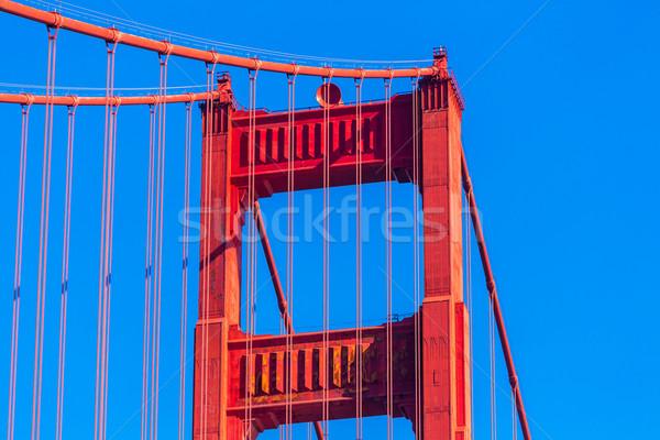 Golden Gate Köprüsü ayrıntılar San Francisco Kaliforniya ABD gökyüzü Stok fotoğraf © lunamarina