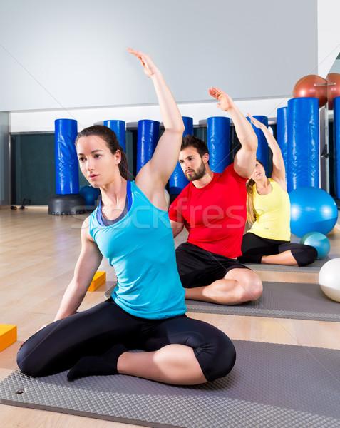 Pilates exercice sirène personnes groupe Photo stock © lunamarina
