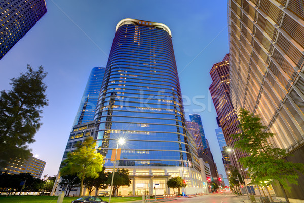 Houston centrum skyline zonsondergang Texas moderne Stockfoto © lunamarina