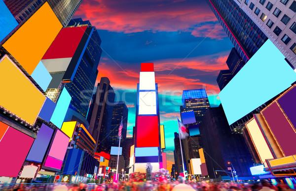 Times Square Manhattan Nueva York todo negocios Foto stock © lunamarina