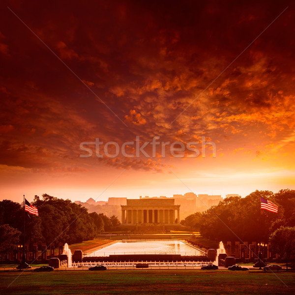 Abraham Lincoln Memorial sunset Washington Dc Stock photo © lunamarina