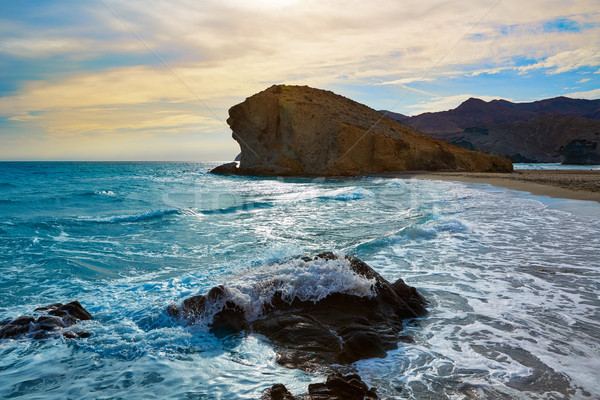 Stock photo: Almeria Playa del Monsul beach Cabo de Gata