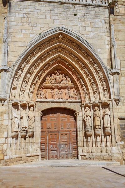 Stock photo: Burgos San Esteban church facade Castilla Spain