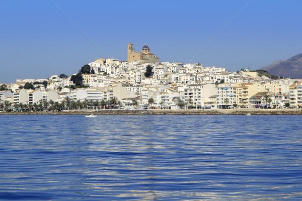 Altea Alicante province Spain view from blue sea Stock photo © lunamarina
