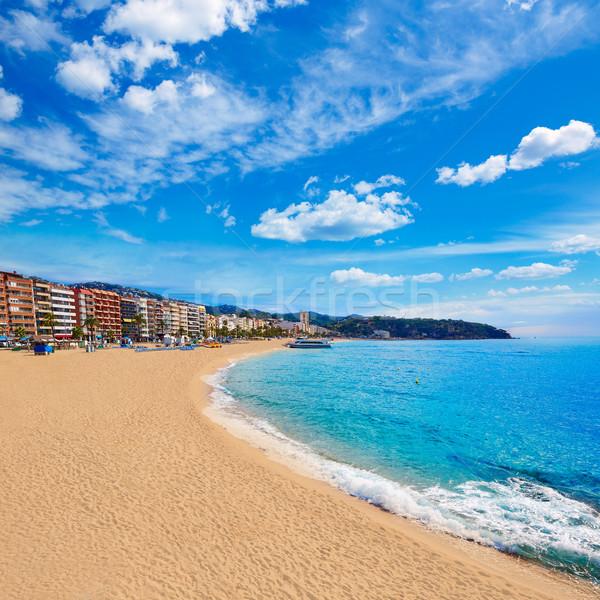 Lloret de Mar beach of Costa Brava Catalonia Stock photo © lunamarina