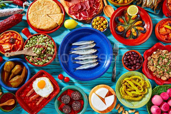 タパス スペイン 地中海料理 人気のある レシピ ストックフォト © lunamarina