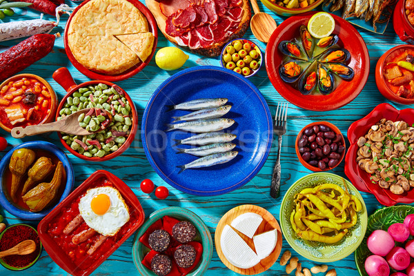 Tapas Espanha popular receitas Foto stock © lunamarina