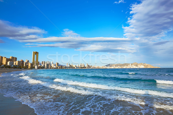 Stok fotoğraf: Plaj · İspanya · akdeniz · gökyüzü · su · bulutlar