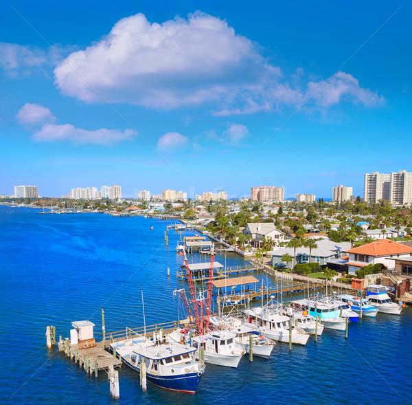 Plaży Florida portu pomarańczowy antena marina Zdjęcia stock © lunamarina