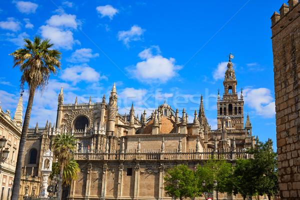 Seville cathedral Giralda tower of Sevilla Spain Stock photo © lunamarina