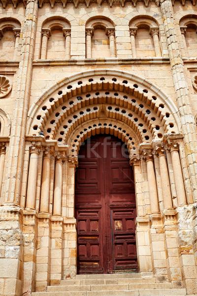 Katedrális ajtó Spanyolország LA út város Stock fotó © lunamarina