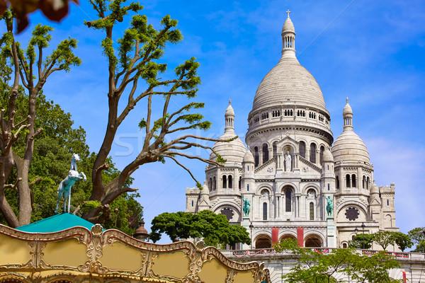 Монмартр Париж Франция город синий городского Сток-фото © lunamarina