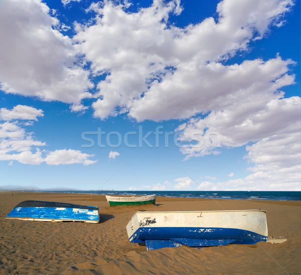 Valencia LA tengerpart Spanyolország hajók víz Stock fotó © lunamarina