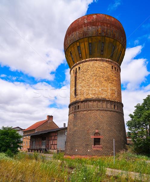 Vieux eau réservoir Allemagne ciel ville Photo stock © lunamarina