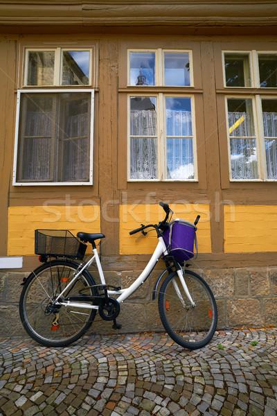 Quedlinburg bicycle in Harz Germany Stock photo © lunamarina