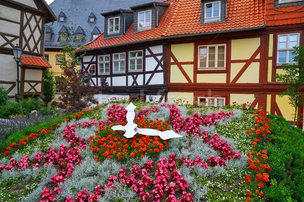 Wernigerode flower clock in Harz Germany Stock photo © lunamarina