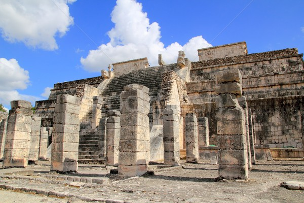 Chichen Itza Warriors Temple Los guerreros Mexico Stock photo © lunamarina