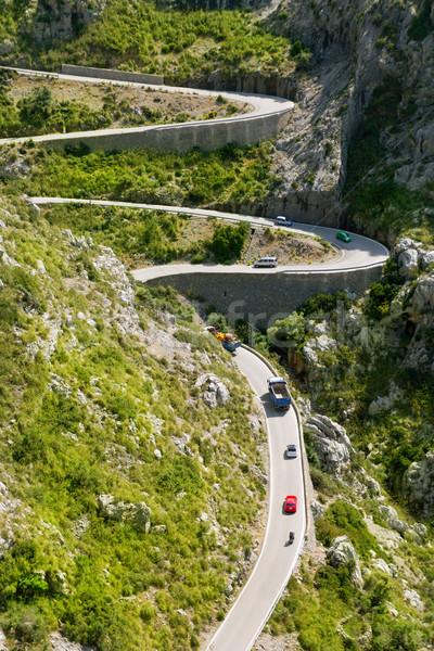 Winding road in mountain near Sacalobra in Mallorca Stock photo © lunamarina