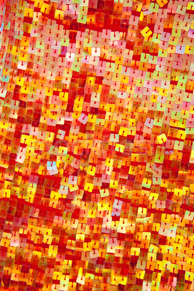 colorful red yellow sequins with square shape Stock photo © lunamarina
