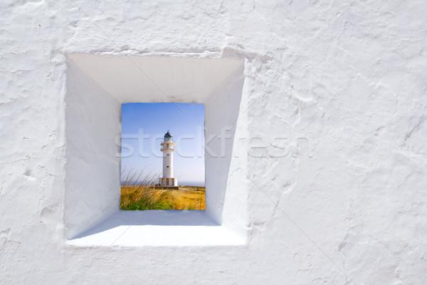 Middellandse zee witte muur venster natuur landschap Stockfoto © lunamarina