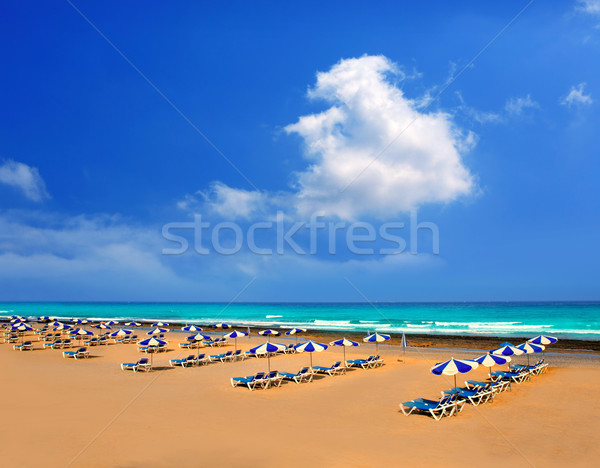 Adeje Beach Playa Las Americas in Tenerife Stock photo © lunamarina