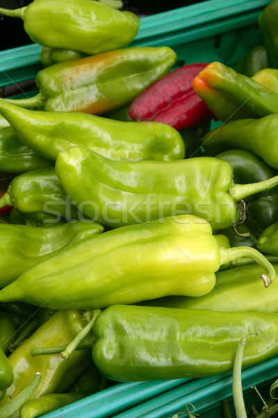 Green pepper texture in the marketplace Stock photo © lunamarina