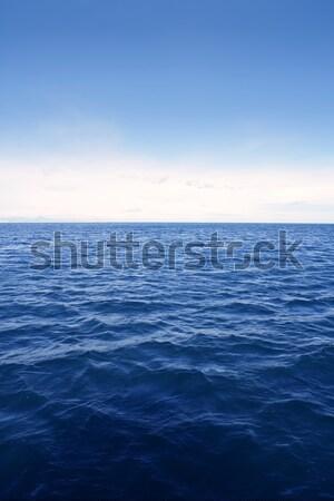 Blauw eenvoudige schone zeegezicht zee Stockfoto © lunamarina