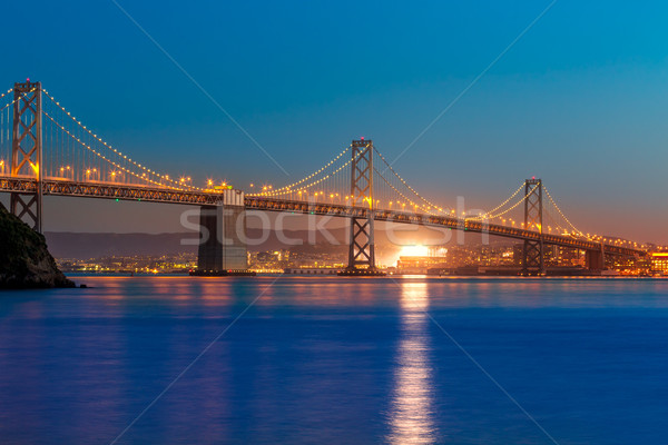 Photo stock: Pont · coucher · du · soleil · San · Francisco · Californie · trésor · île