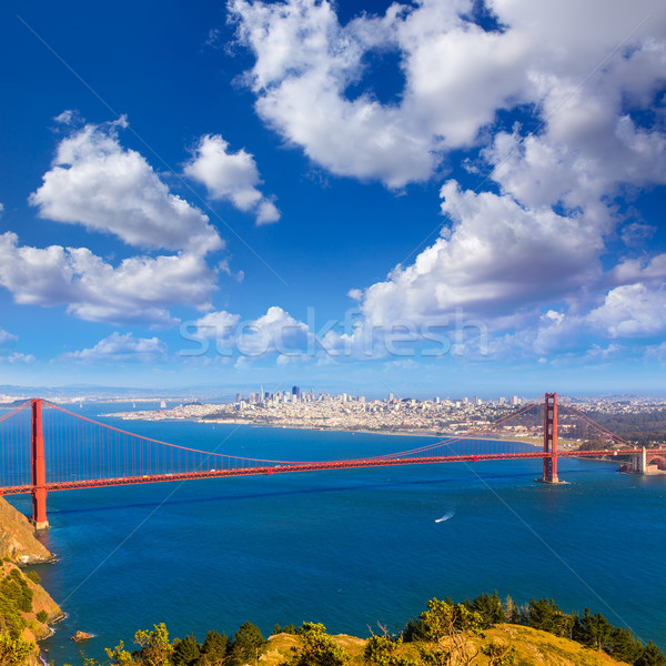 Photo stock: San · Francisco · Golden · Gate · Bridge · Californie · USA · ciel · ville