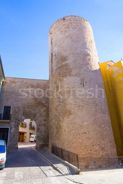LA porta Spanyolország épület építkezés fal Stock fotó © lunamarina