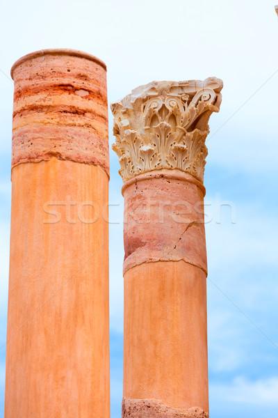 Columns in Cartagena Roman Amphitheater Spain Stock photo © lunamarina