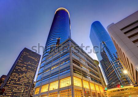 Houston centro de la ciudad horizonte puesta de sol Texas moderna Foto stock © lunamarina