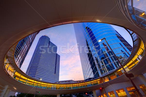 Хьюстон центра закат Небоскребы Техас современных Сток-фото © lunamarina