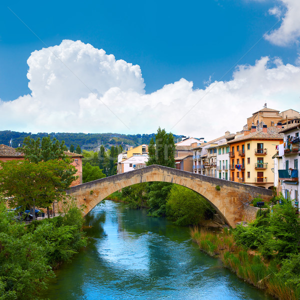 Estella bridge in Way of Saint James at Navarra Stock photo © lunamarina