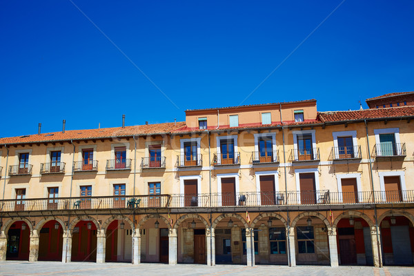 Leon Plaza Mayor in Way of Saint James Castilla Stock photo © lunamarina