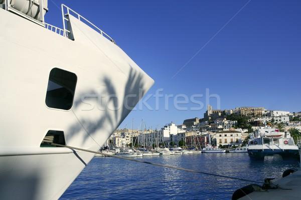 Ibiza landmark island in Mediterranean sea Stock photo © lunamarina