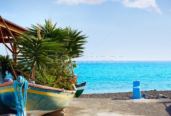 пляж Канарские острова Испания небе пейзаж фон Сток-фото © lunamarina