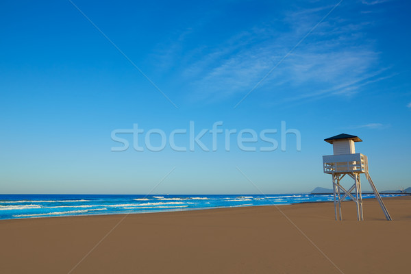 Strand Valencia Spanje middellandse zee hemel natuur Stockfoto © lunamarina