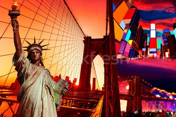 Liberty Statue and New York American Symbols Stock photo © lunamarina