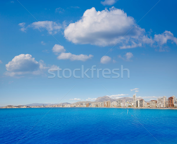 Benidorm Levante beach in Alicante Spain Stock photo © lunamarina
