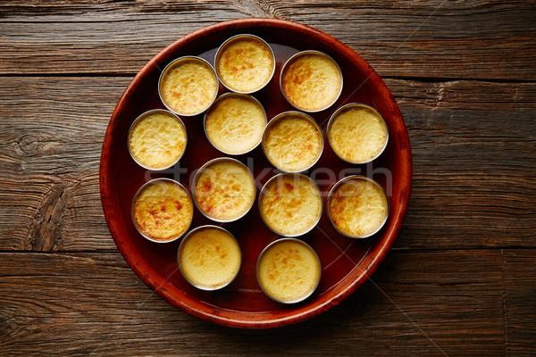 Crème dessert four cuit eau Photo stock © lunamarina