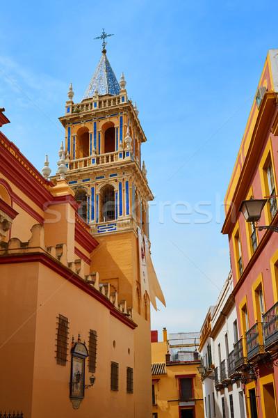 Seville Santa Ana church in Spain at Triana Stock photo © lunamarina